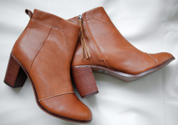 TOMS ~ Lunata Warm Tan Leather Booties