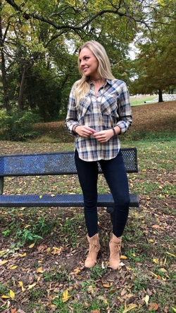 Just My Plaid Top