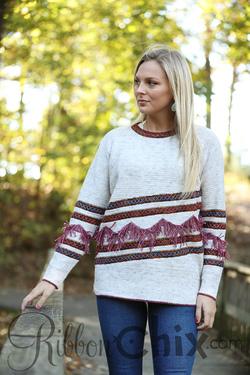 Fab Fringe Sweater