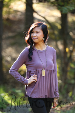 Brandy Washed Top (Plum)