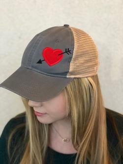 Chix Made ~ Love Struck Cap (Charcoal)