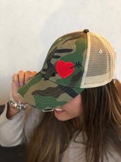 Chix Made ~ Love Struck Cap (Camo)