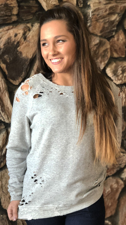 Heather Knit Sweater