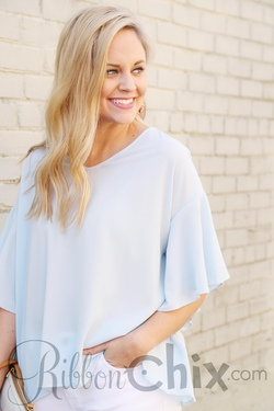 Feel the Flare Top (Powder Blue)