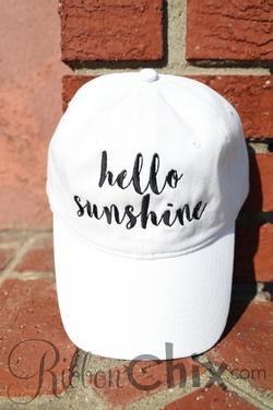 Hello Sunshine Cap (White)