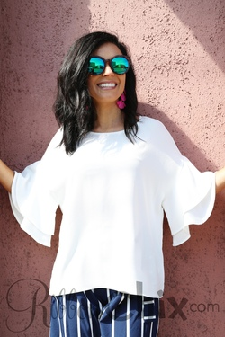Just the Simple Things Top (White)