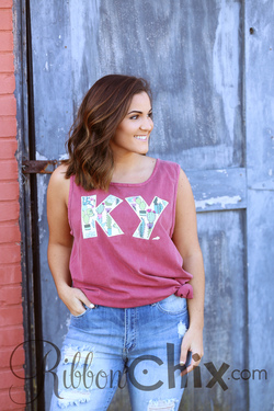 Chix Exclusive ~ State Pride Tank (Funky Font/Succulent)