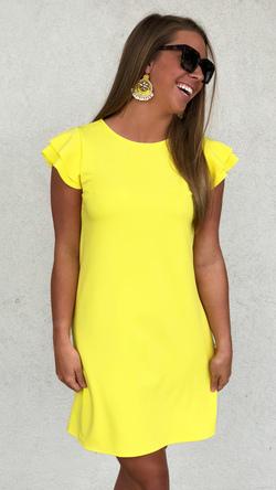 Beauty Bound Dress (Yellow)