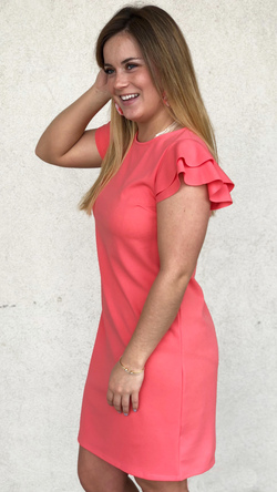Beauty Bound Dress (Coral)
