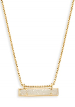 Kendra Scott ~ Leanor Gold Bar Pendant (Iridescent Drusy)
