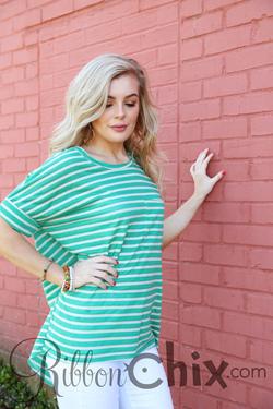 Sea of Stripes Top, Green