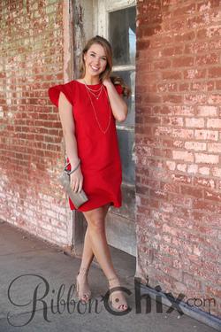Beauty Bound Dress (Red)