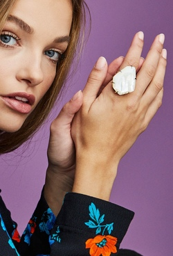 Kendra Scott ~ Megan Cocktail Ring (Ivory Mother of Pearl)