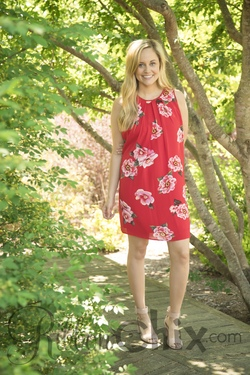 Floral Influences Dress (Red)