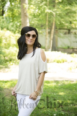 Oma Top (Oat/White)