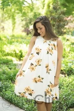 Floral Influences Dress (Cream)