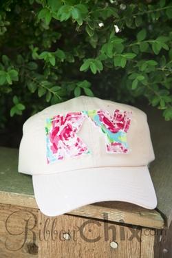 State Pride Cap ~ Lt. Pink/Roses