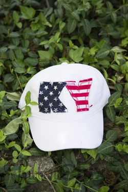 State Pride Cap ~ White/USA