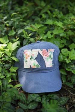 State Pride Cap ~ Denim/Vintage Floral