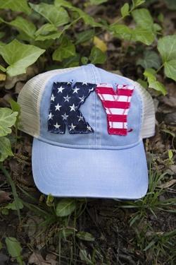 State Pride Cap ~ Lt. Blue Trucker/USA