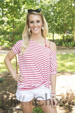 Piko ~ On the Go Top (White/Red)