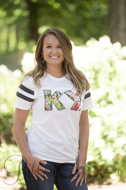 Chix Exclusive ~ State Pride Tee (Charcoal Stripe/Summer Floral)