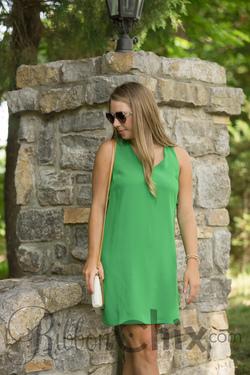 Lime Twist Dress