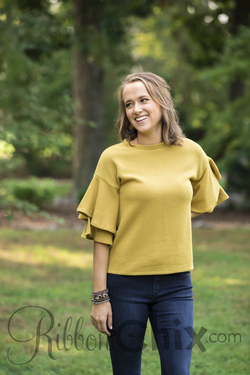 Oh So Frilling Sweater (Mustard)