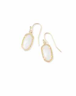 Kendra Scott ~ Lee Drop Earrings (Gold/White Pearl)