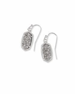 Kendra Scott ~ Lee Drop Earrings (Silver/Platinum Drusy)