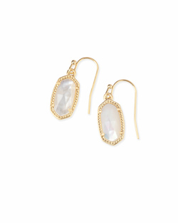 Kendra Scott ~ Lee Drop Earrings (Gold/Ivory Pearl)