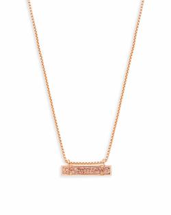 Kendra Scott ~ Leanor Pendant Necklace (Rose Gold/Rose Gold Drusy)