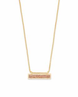 Kendra Scott ~ Leanor Pendant Necklace (Gold/Sand Drusy)