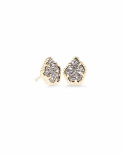 Kendra Scott ~ Tessa Stud Earrings (Gold/Platinum Drusy)