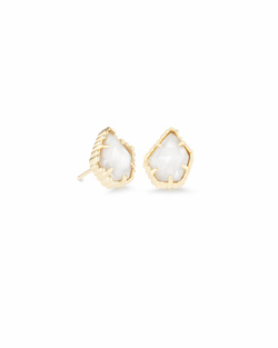 Kendra Scott ~ Tessa Stud Earring (Gold/White Pearl)