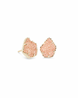 Kendra Scott ~ Tess Stud Earrings (Gold/Sand Drusy)