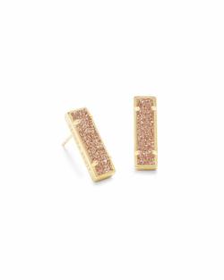 Kendra Scott ~ Lady Stud Earrings (Gold/Sand Drusy)
