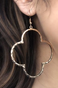 Quatrefoil Earrings (Gold)