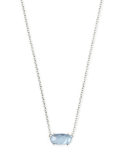 Kendra Scott ~ Ever Necklace (Sky Blue Illusion/Silver)
