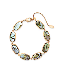 Kendra Scott ~ Millie Link Bracelet (Abalone Shell/Rose Gold)