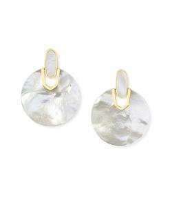 Kendra Scott ~ Didi Statement Earring (Mother of Pearl/Gold)
