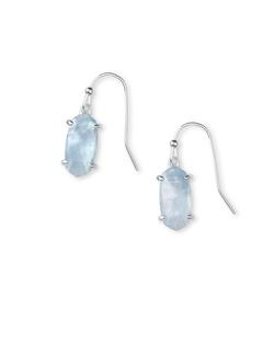Kendra Scott ~ Lemmi Statement Earring (Sky Blue Illusion/Bright Silver)