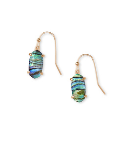 Kendra Scott ~ Lemmi Statement Earring (Abalone Shell/Rose Gold)