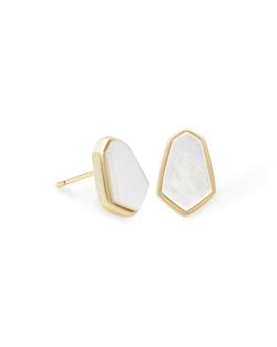 Kendra Scott ~ Clove Stud Earring (Ivory Mother of Pearl/Gold)