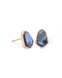 Kendra Scott ~ Clove Stud Earring (Abalone Shell/Rose Gold)
