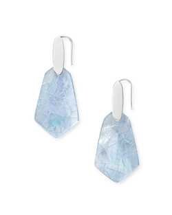 Kendra Scott ~ Camila Drop Earrings (Sky Blue Illusion/Bright Silver)