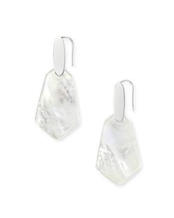 Kendra Scott ~ Camila Drop Earrings (Mother of Pearl/Bright Silver)