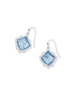 Kendra Scott ~ Kyrie Drop Earrings (Sky Blue Illusion/Bright Silver)