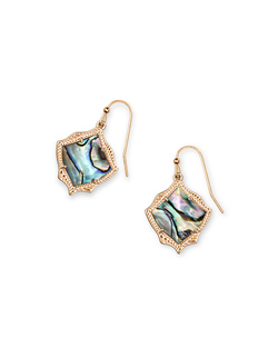 Kendra Scott ~ Kyrie Drop Earrings (Abalone Shell/Rose Gold)