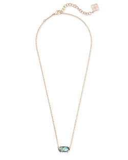 Kendra Scott ~ Ever Necklace (Abalone Shell/Rose Gold)